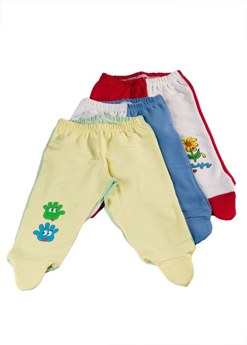Baby's wadded woven pants with a print