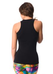 Ladies' tank top made of elastic cotton woven