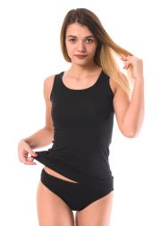 Ladies' wide strap tank top