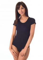Ladies' short sleeve thong bodysuit
